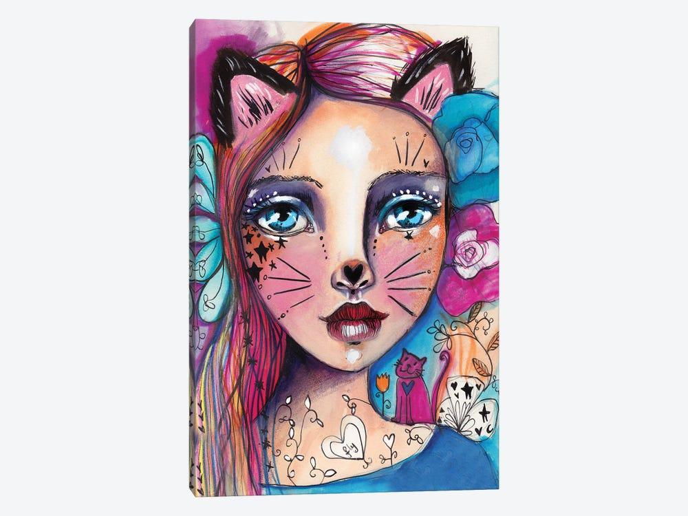 Cat Girlie by Tamara Laporte 1-piece Art Print