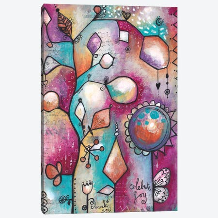 Celebrate Joy Canvas Print #LPR44} by Tamara Laporte Canvas Wall Art