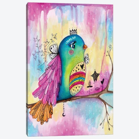 Celebration Bird Canvas Print #LPR45} by Tamara Laporte Canvas Wall Art