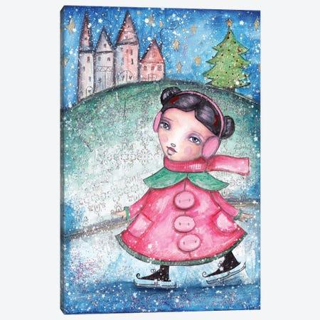 Christmas Girl Canvas Print #LPR47} by Tamara Laporte Canvas Artwork