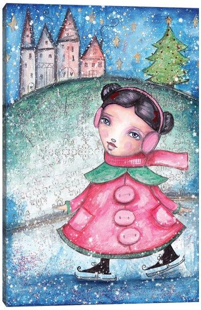 Christmas Girl Canvas Art Print