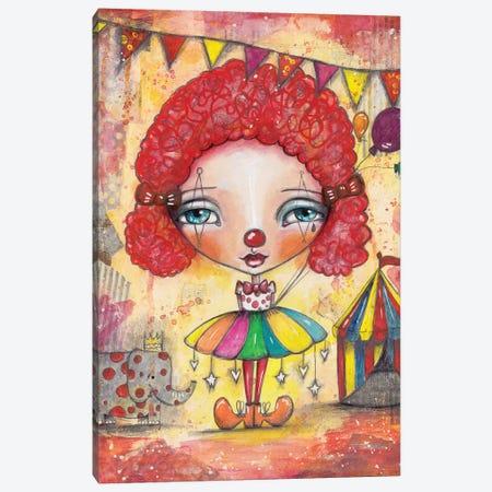 Clown Girl Canvas Print #LPR48} by Tamara Laporte Art Print