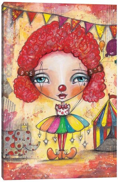 Clown Girl Canvas Art Print