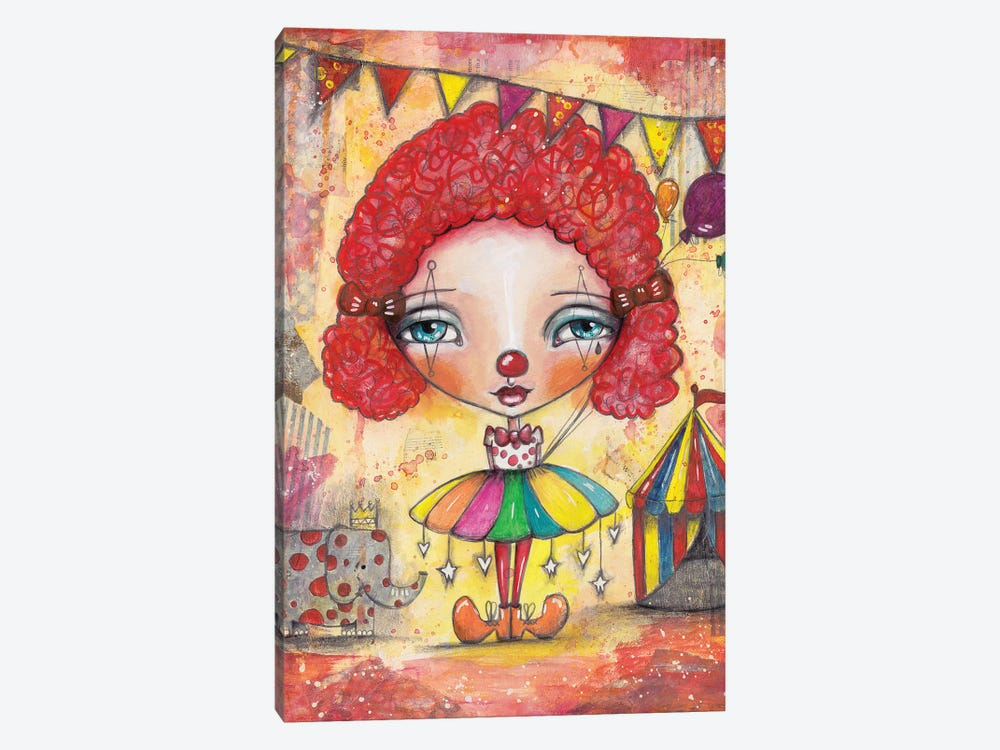 Clown Girl by Tamara Laporte 1-piece Canvas Artwork