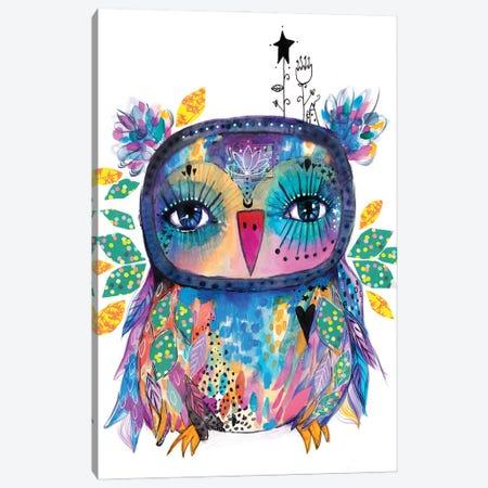 Colourful Quirky Bird Canvas Print #LPR49} by Tamara Laporte Canvas Print