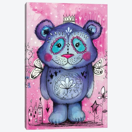 Cute Bear Canvas Print #LPR53} by Tamara Laporte Canvas Artwork