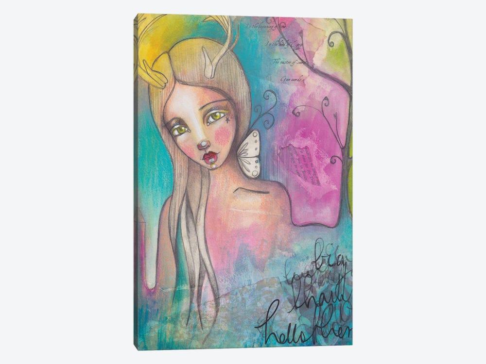 Deer Lady by Tamara Laporte 1-piece Canvas Wall Art