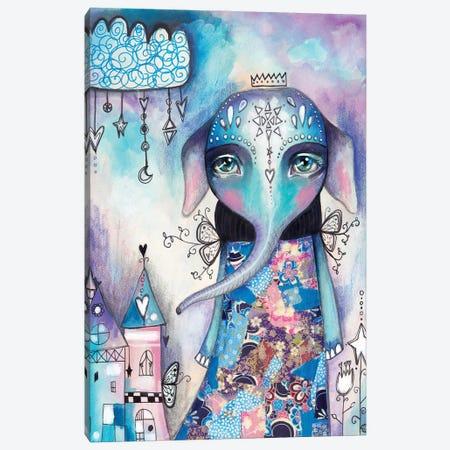 Elephant Of Love Canvas Print #LPR59} by Tamara Laporte Canvas Wall Art