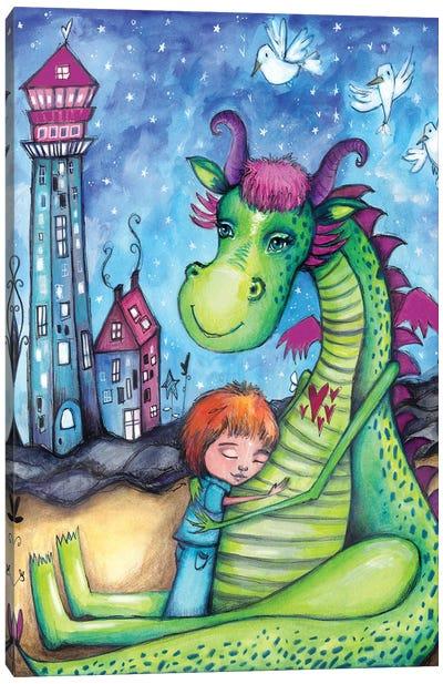 Elliot The Dragon Canvas Art Print