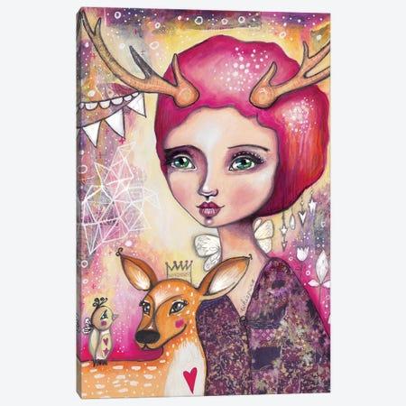 Fawn Whispers Canvas Print #LPR66} by Tamara Laporte Canvas Artwork