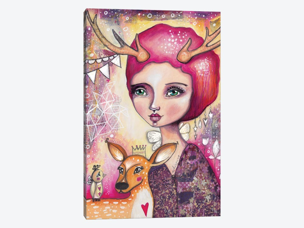 Fawn Whispers by Tamara Laporte 1-piece Canvas Art