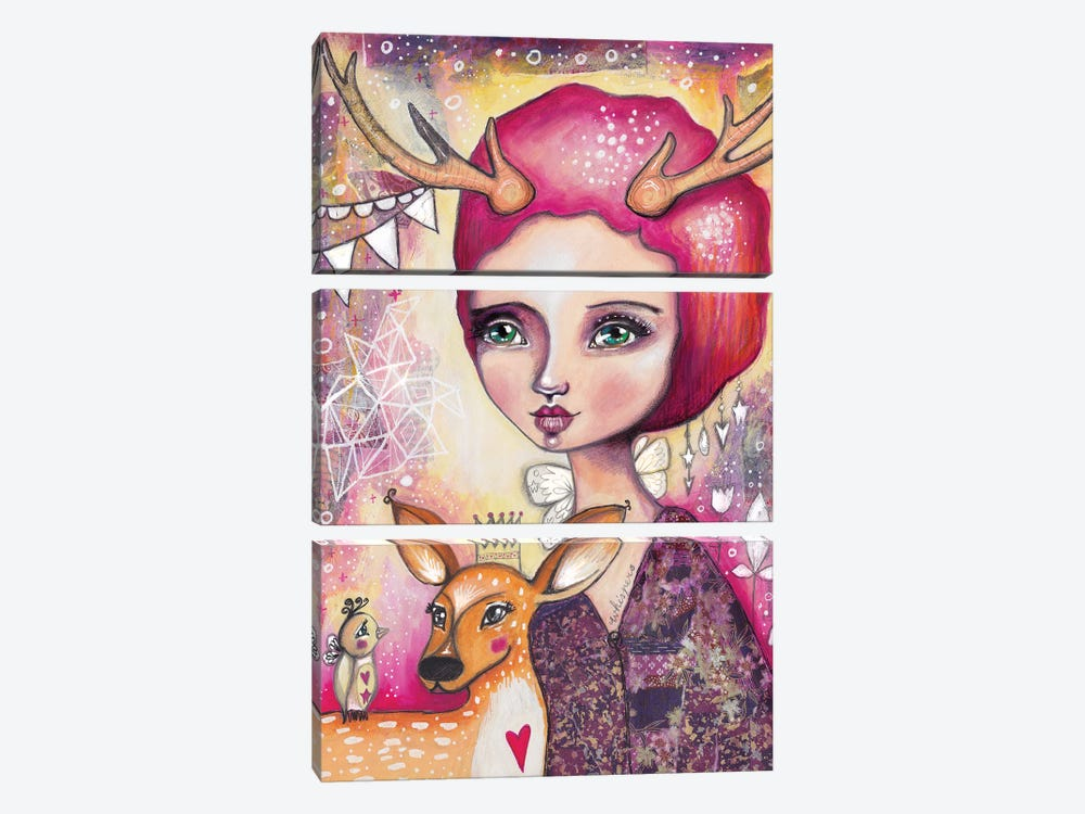 Fawn Whispers by Tamara Laporte 3-piece Canvas Artwork