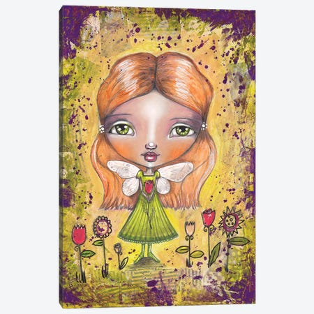 Flower Fairy Canvas Print #LPR67} by Tamara Laporte Canvas Artwork
