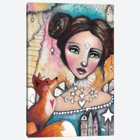 Fox Girl Canvas Print #LPR71} by Tamara Laporte Canvas Art