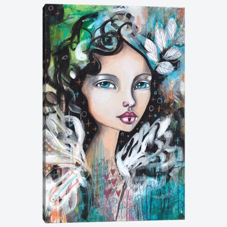 From A Feather Canvas Print #LPR73} by Tamara Laporte Canvas Artwork