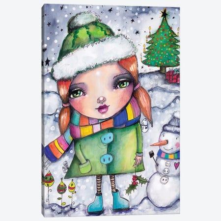 Fun In The Snow Canvas Print #LPR74} by Tamara Laporte Art Print