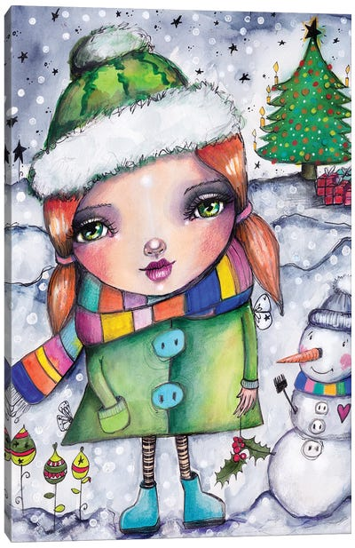 Fun In The Snow Canvas Art Print