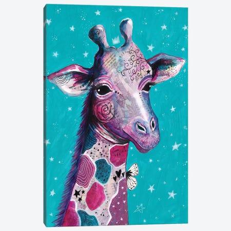 Giraffe Love Canvas Print #LPR75} by Tamara Laporte Art Print