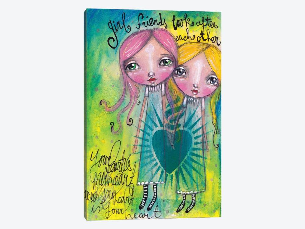 Girlfriends-Look After Each Other by Tamara Laporte 1-piece Canvas Art Print
