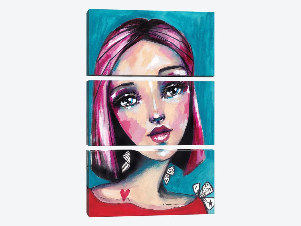 Girl by Tamara Laporte 3-piece Canvas Print