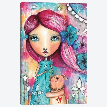 Girls Best Friend Canvas Print #LPR79} by Tamara Laporte Canvas Artwork