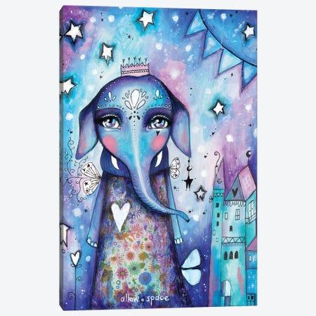 Allow Space Elephant Canvas Print #LPR7} by Tamara Laporte Art Print