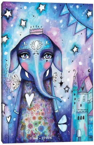 Allow Space Elephant Canvas Art Print