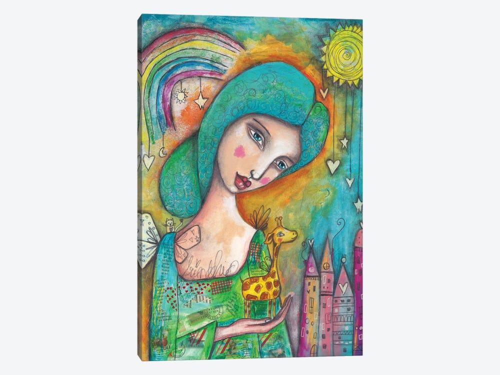 Girl With Giraffe by Tamara Laporte 1-piece Canvas Art
