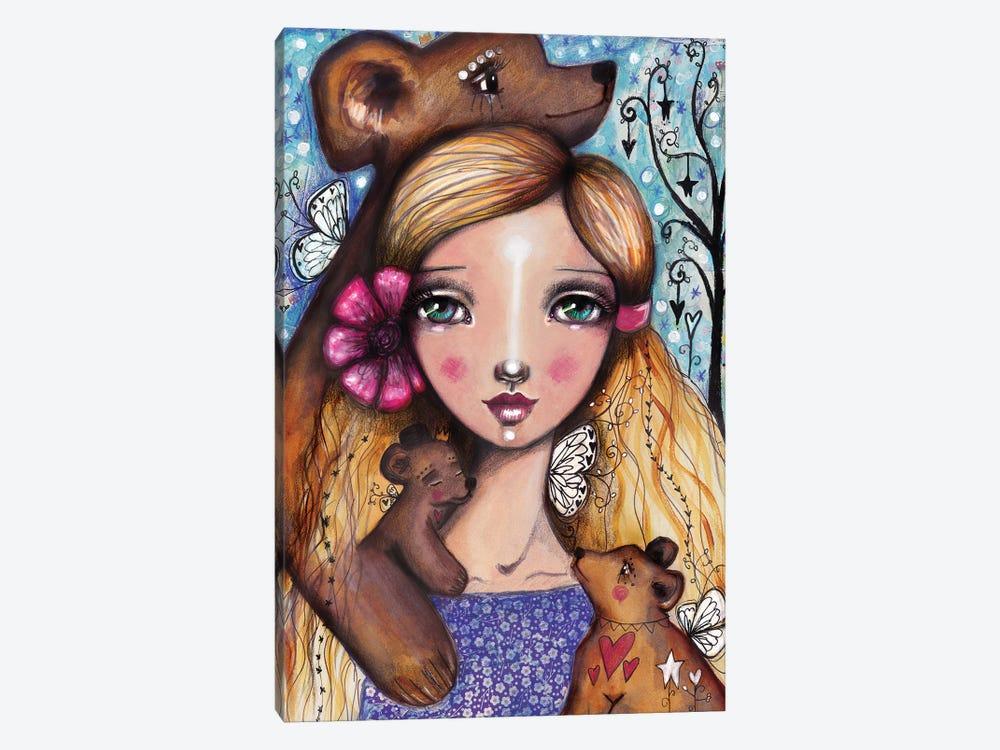 Goldi 3 Bears by Tamara Laporte 1-piece Canvas Artwork
