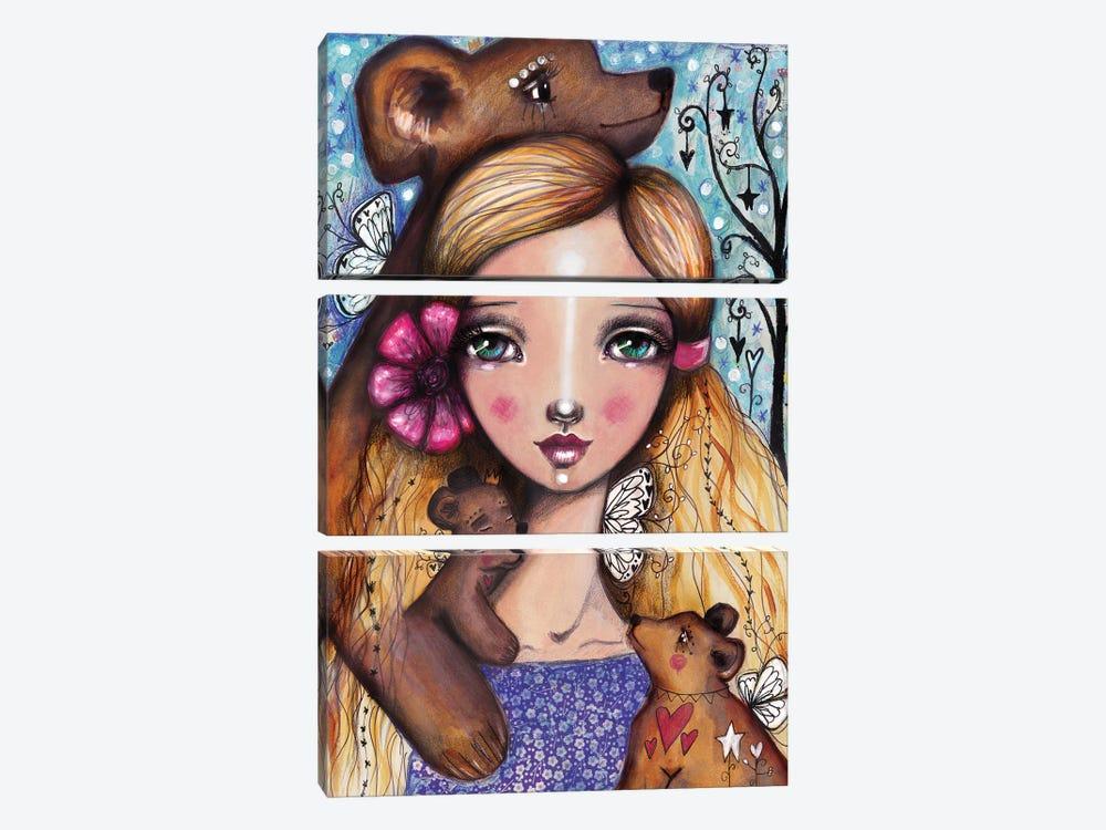 Goldi 3 Bears by Tamara Laporte 3-piece Canvas Artwork