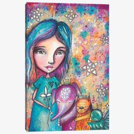 Group Hug Canvas Print #LPR85} by Tamara Laporte Canvas Artwork