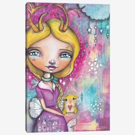 Guinea Pig Girl Canvas Print #LPR88} by Tamara Laporte Canvas Art Print