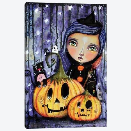 Halloween Witchy Canvas Print #LPR90} by Tamara Laporte Canvas Artwork