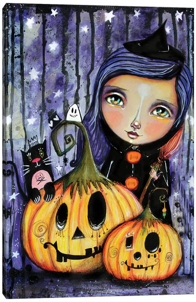 Halloween Witchy Canvas Art Print