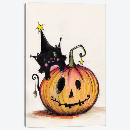 Happy Halloween Canvas Print #LPR91} by Tamara Laporte Canvas Wall Art