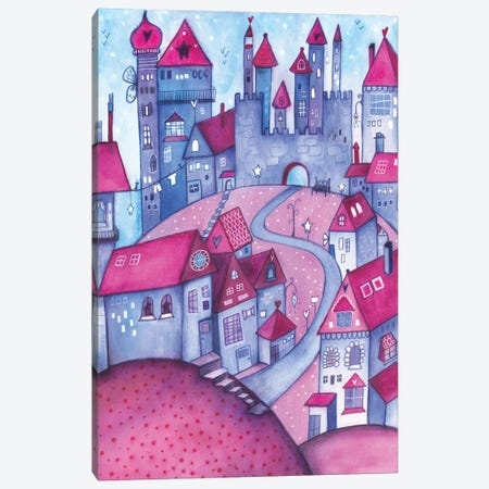 Happy Houses Canvas Print #LPR92} by Tamara Laporte Canvas Art