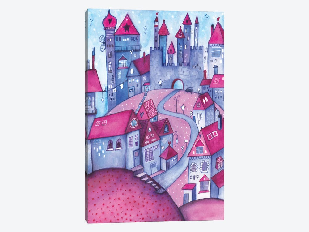 Happy Houses by Tamara Laporte 1-piece Canvas Print