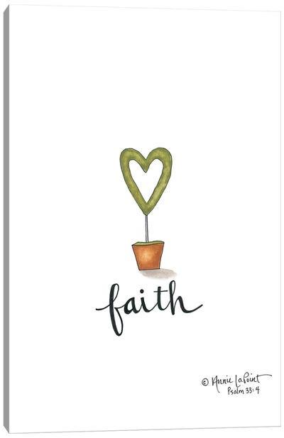 Little Faith Topiary Canvas Art Print