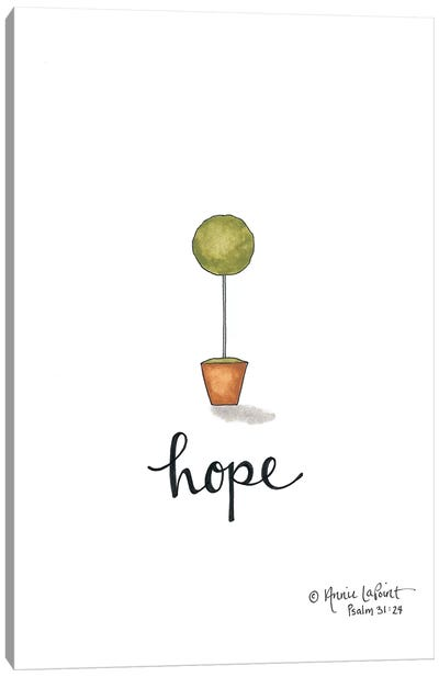 Little Hope Topiary Canvas Art Print