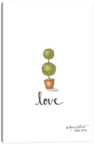 Little Love Topiary Canvas Art Print