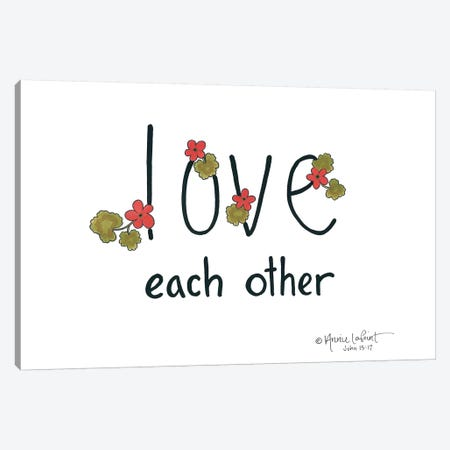 Love Each Other Canvas Print #LPT15} by Annie LaPoint Art Print