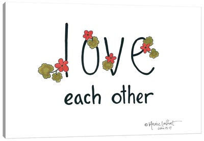 Love Each Other Canvas Art Print