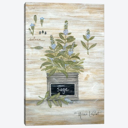 Sage Botanical Canvas Print #LPT18} by Annie LaPoint Canvas Art