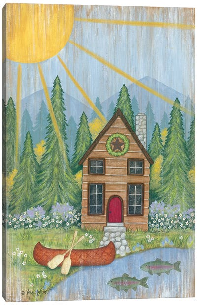 Cabin in the Woods Canvas Art Print