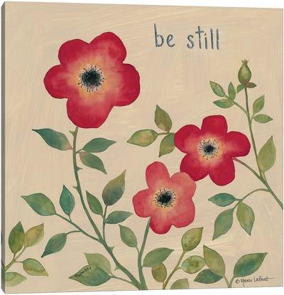 Be Still Roses Canvas Art Print