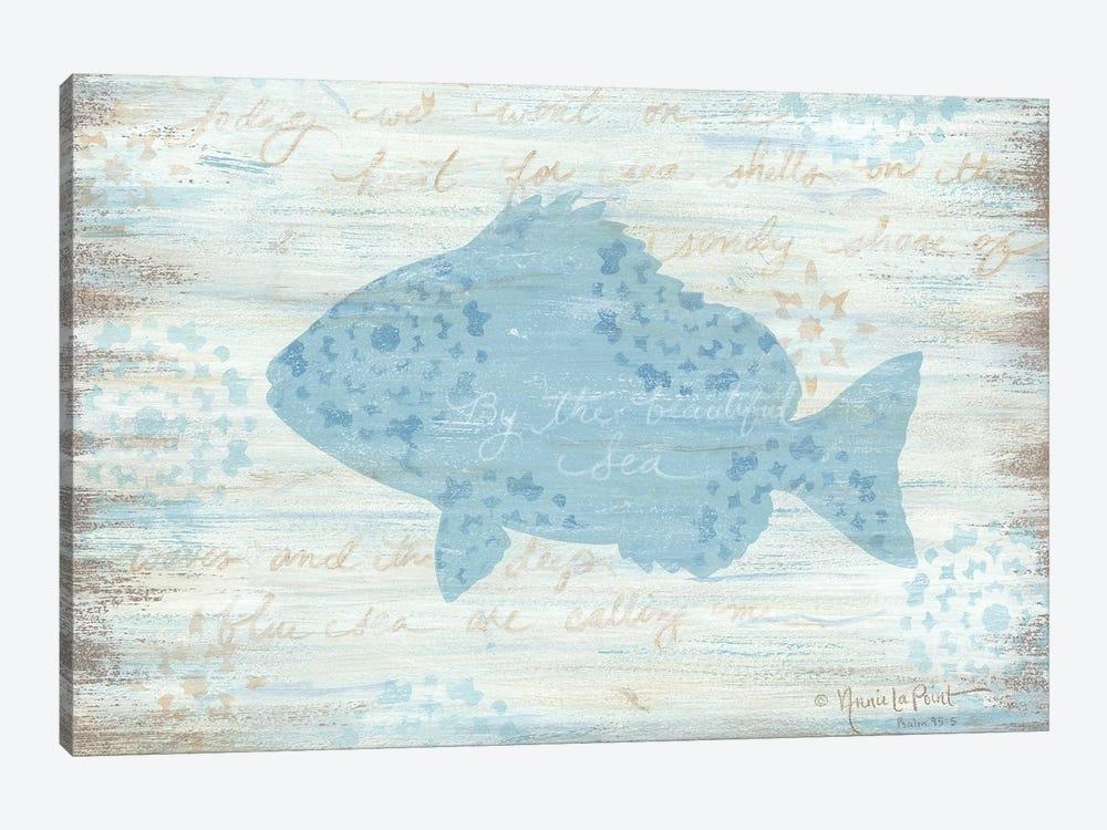 Ocean Fish     by Annie LaPoint 1-piece Canvas Art