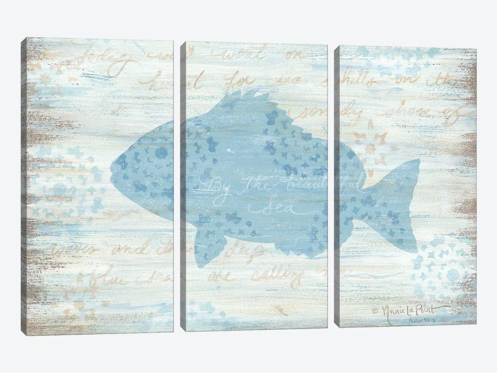 Ocean Fish     by Annie LaPoint 3-piece Canvas Art