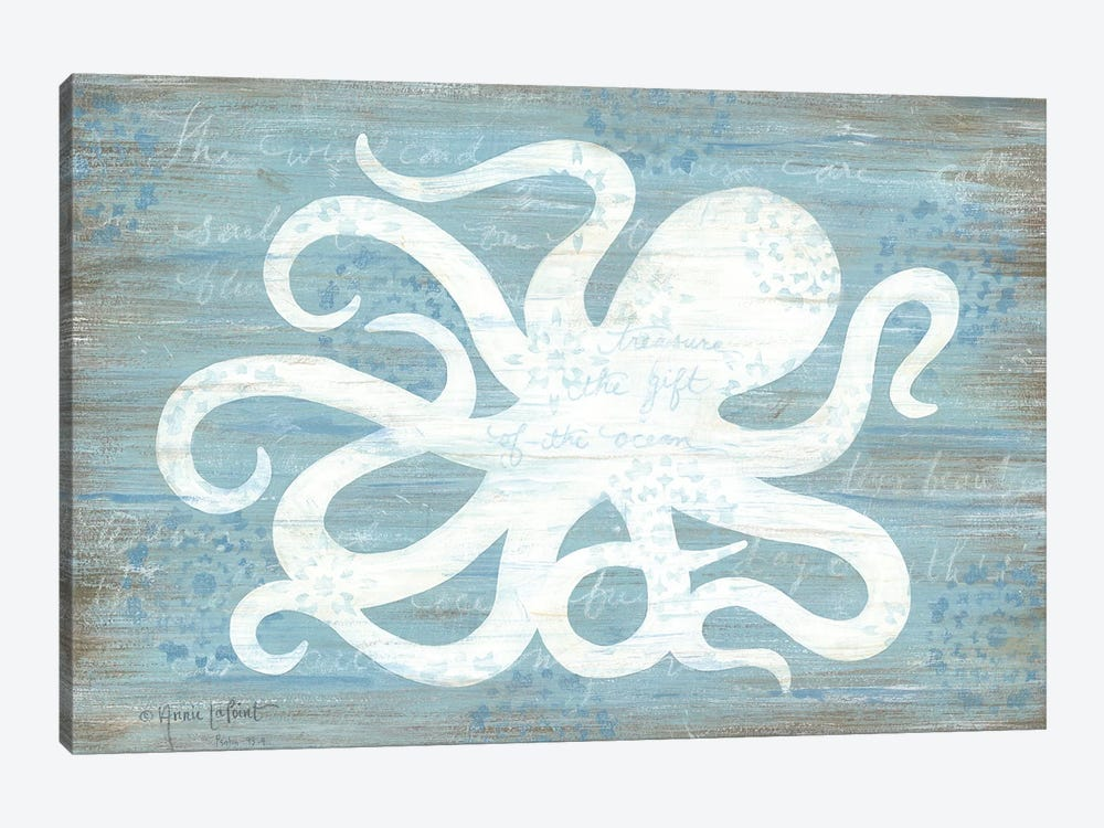 Ocean Octopus   by Annie LaPoint 1-piece Canvas Print