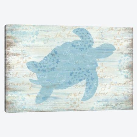 Ocean Turtle  Canvas Print #LPT24} by Annie LaPoint Canvas Art