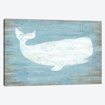 Ocean Whale   Canvas Print #LPT25} by Annie LaPoint Canvas Art